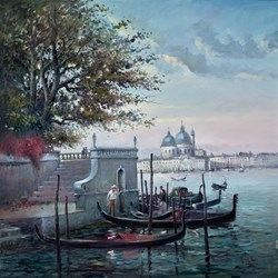 Distant Venice by Henderson Cisz -  sized 40x40 inches. Available from Whitewall Galleries